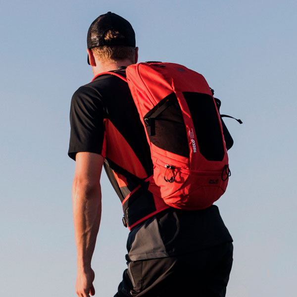 Person with a RECCO® Rucksack